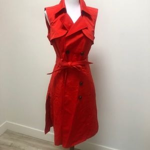 NWT Bright Red Trench Small